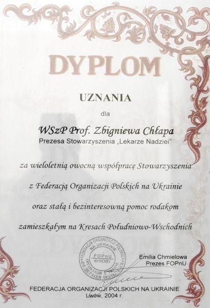 Dyplom Pomoc Ukrainie
