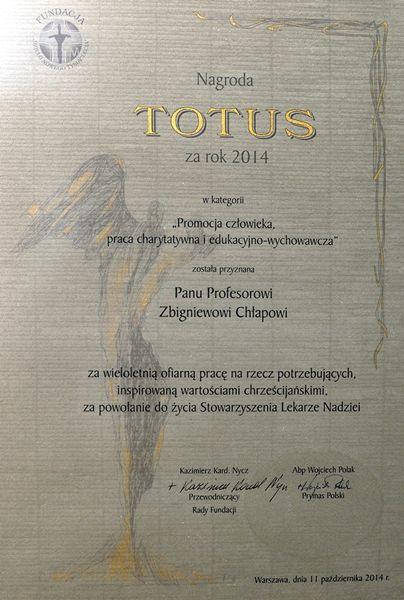 Dyplom Totus 2014